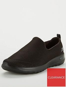 skechers-go-walk-joy-wide-fit-slip-on-plimsoll-shoes-black