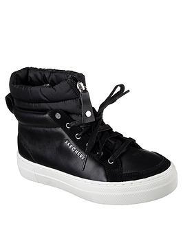 Skechers Alba Winter Street Hidden Wedge Sneaker Boot - Black
