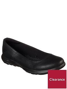 skechers-go-walk-lite-gem-ballet-pumps-black