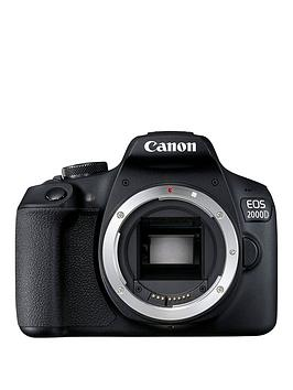 Canon Eos 2000D Slr Black Camera - Body Only