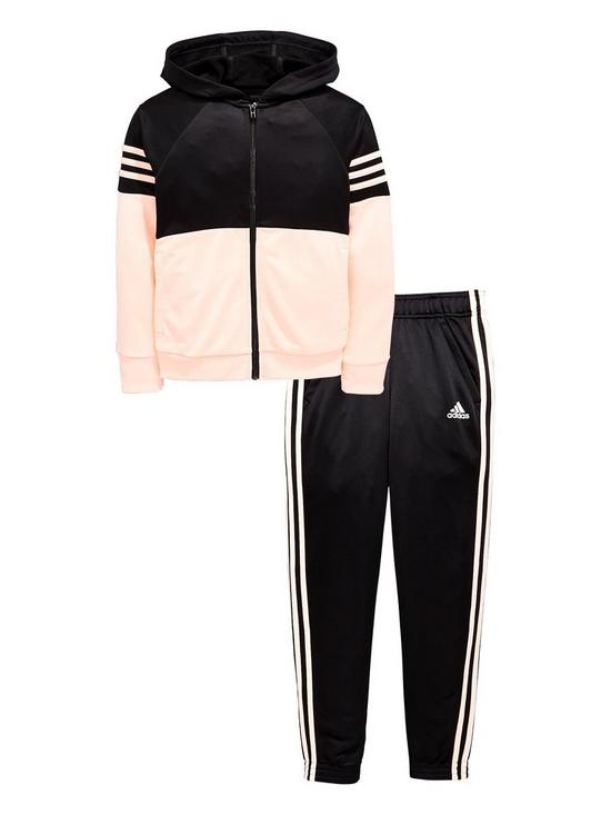 847c89f7ac adidas Girls Hooded Poly Tracksuit | very.co.uk