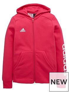 adidas-girls-linear-full-zip-hoodie