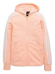 adidas-girls-3-stripe-full-zip-hoodie