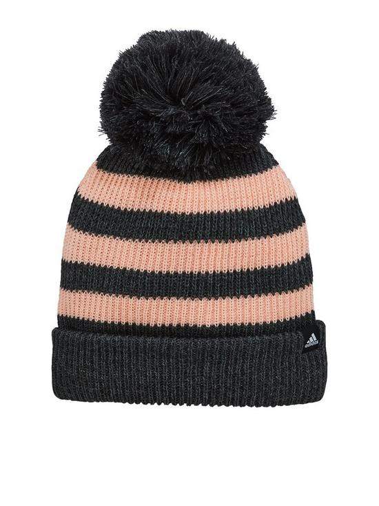 766df533442 adidas ADIDAS KIDS FAT STRIPE BEANIE HAT