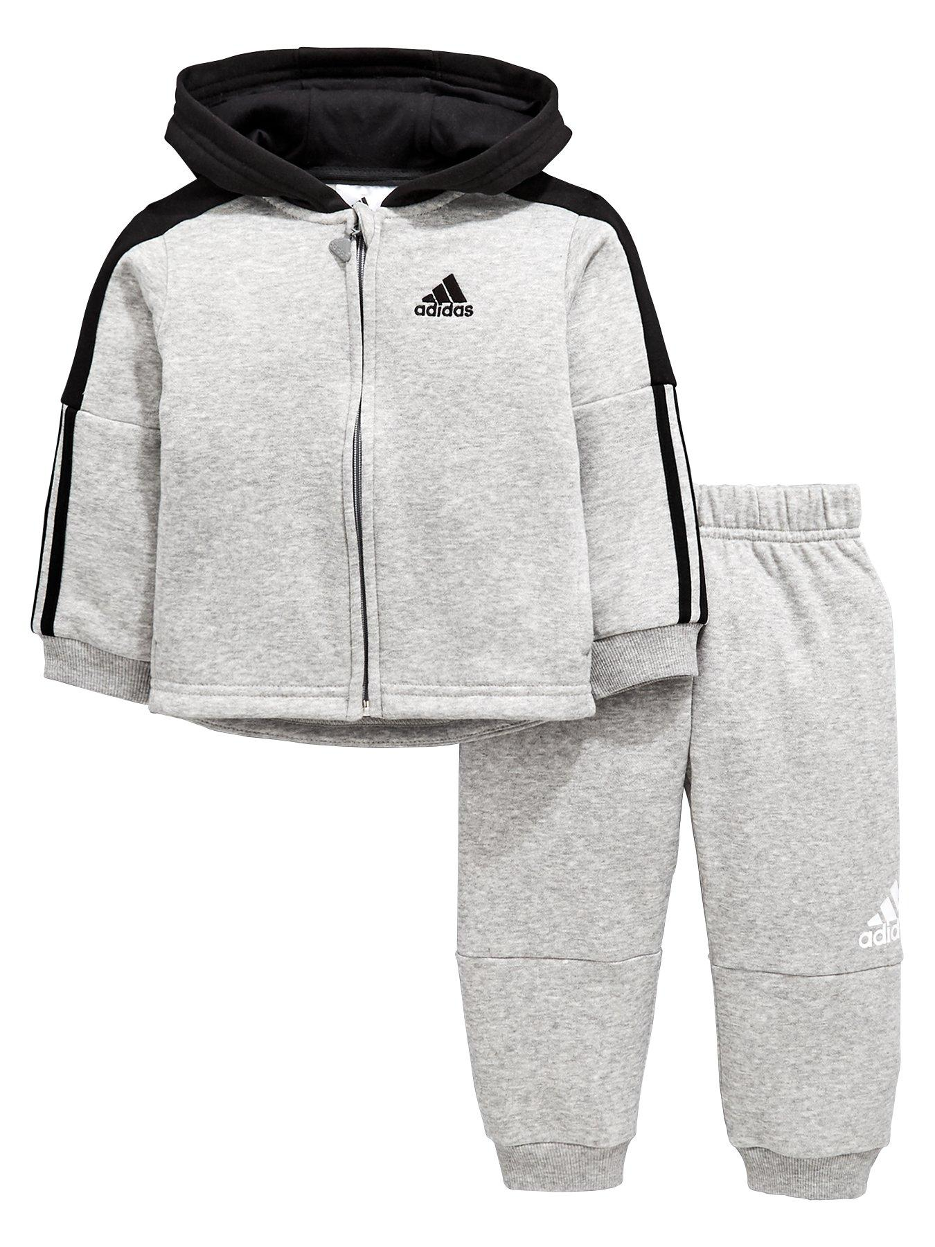 adidas Originals Unisex Baby Shiny Full Zip Hooded Tracksuit e613dd3dbd