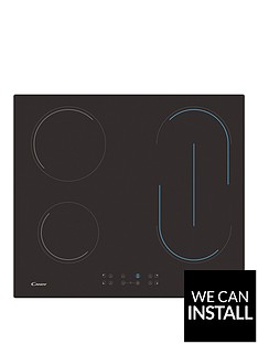 candy-ch64bvtnbsp60cm-ceramic-hob-with-optional-installation-black