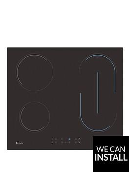 candy-ch64bvtnbsp60cm-ceramic-hob-with-optional-installation-black