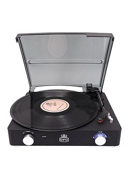 gpo-stylonbspii-turntable-rubberised-black