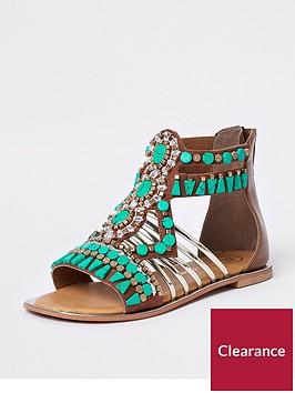 river-island-girls-turquoise-gem-embellished-t-bar-sandals