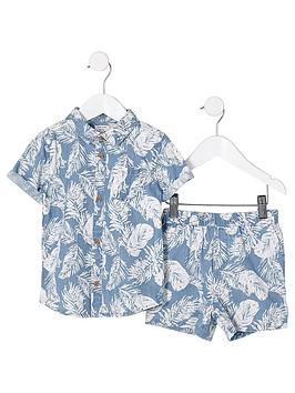 river-island-mini-boys-blue-denim-feather-shirt-outfit