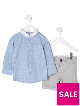 river-island-mini-boys-blue-dobby-shirt-outfit