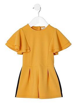 river-island-mini-girls-yellow-frill-sleeve-tape-playsuit