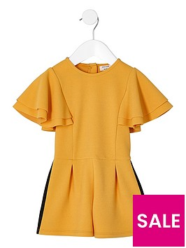 river-island-mini-girls-yellow-frill-sleeve-tape-playsuit