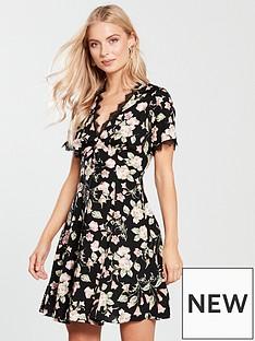 v-by-very-lace-trim-tea-dress-blackfloral