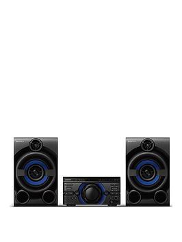 Sony Mhc-M20D High Power Three Box Music System With Bluetooth, Usb, Cd/Dvd - Black