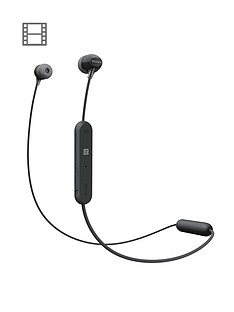 Sony WI-C300 Wireless In-Ear Headphones with Bluetooth/NFC - Black