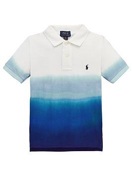 ralph-lauren-boys-short-sleeve-dip-dye-polo-navywhite