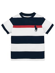 Ralph Lauren Boys Short Sleeve Big Pony Stripe T-shirt
