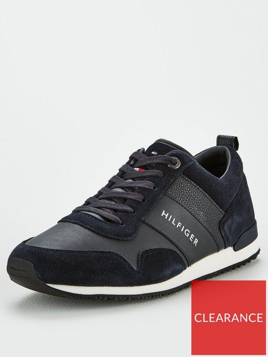 da19b4004 Tommy Hilfiger Iconic Leather Suede Mix Runner - Midnight