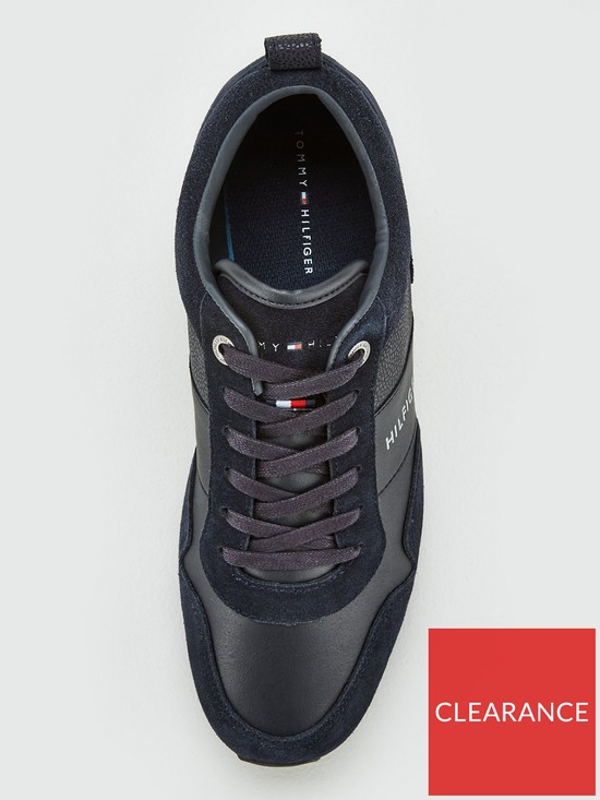 fc130cb1f ... Tommy Hilfiger Iconic Leather Suede Mix Runner - Midnight. View larger