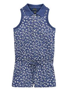 b32f435403 Ralph Lauren Girls Sleeveless Floral Printed Polo Playsuit