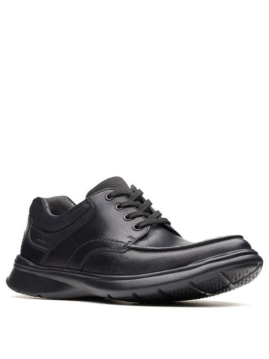b3ecb2502c87 Clarks Cotrell Edge Leather Lace Up Standard Fit Shoe - Black Smooth ...