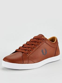 fred-perry-baseline-leather-trainers-tan