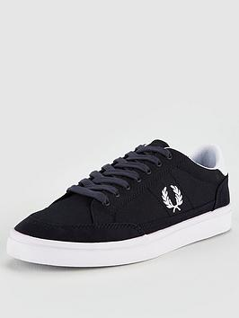 fred-perry-deuce-canvas-trainers-navy