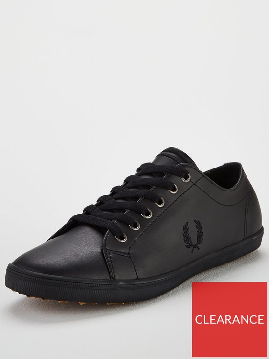 cc2b0bc38f7e Fred Perry Kingston Leather Trainers - Black