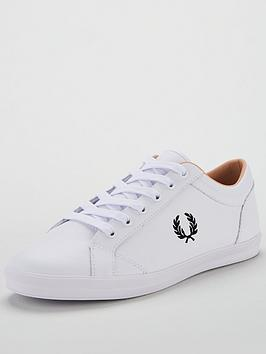 fred-perry-baseline-leather-trainers-white