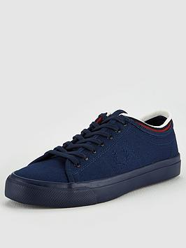 fred-perry-kendrick-tipped-cuff-canvas-trainers-carbon-blue