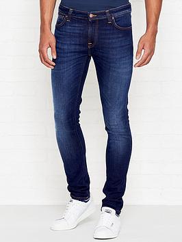 nudie-jeans-skinny-lin-tight-fit-dark-deep-worn-jeans-indigo