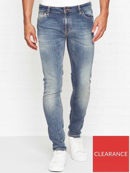 1ff8e5e1364350 NUDIE JEANS Skinny Lin Tight Fit Shimmering Power Jeans - Blue ...