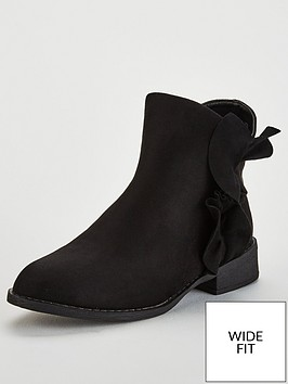 lost-ink-wide-fit-maddy-frill-flat-ankle-boot-black