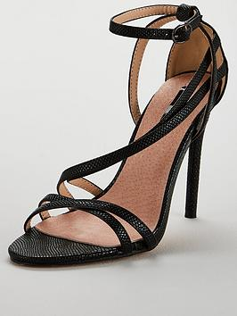 Lost Ink Wide Fit Flo Strappy Sandal