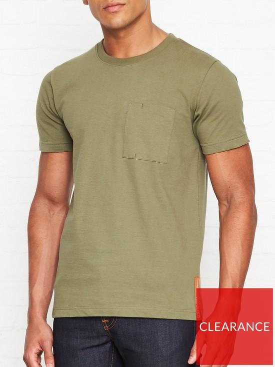 2dee6bdd7 NUDIE JEANS Kurt Worker T-Shirt - Green   very.co.uk