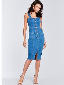 michelle-keegan-denim-bodycon-dress-mid-wash