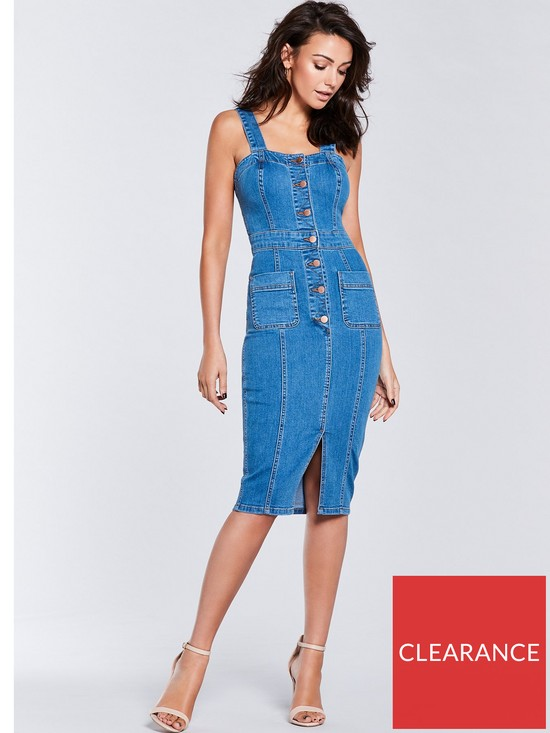 821067d89 Michelle Keegan Denim Bodycon Dress - Mid Wash