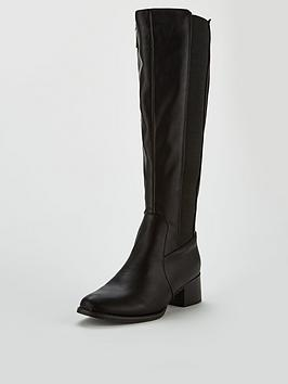 Lost Ink Elastic Riding High Boot - Black