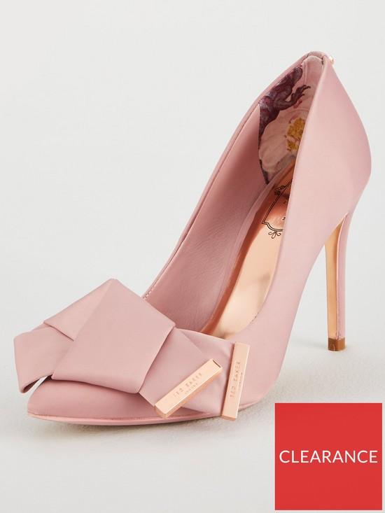 b7a515a1ec2 Ted Baker IInes Bow Heeled Shoe - Pink
