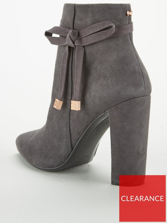 89c08a7bc33261 ... Ted Baker Qatena Suede Bow Ankle Boot - Charcoal. View larger