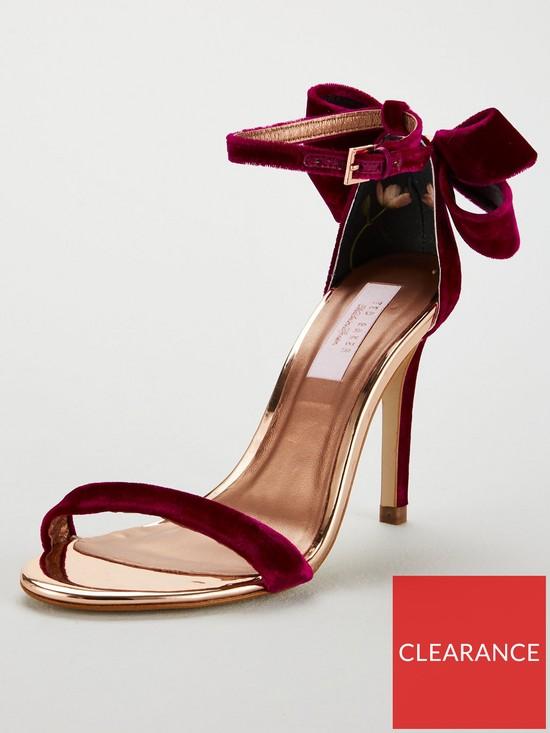 12619af4786 Ted Baker Ted Baker Sandalv Velvet Bow Heeled Shoe