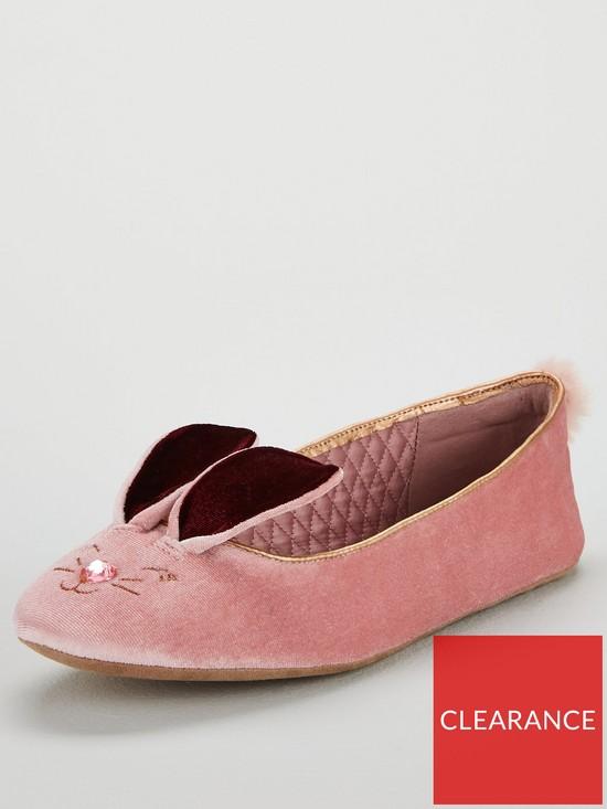 a839247cfc122e Ted Baker Bhunni  Bunny  Ballerina Slipper - Rose