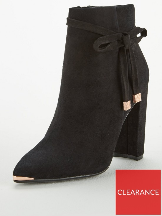 2328347a9 Ted Baker Qatena Suede Bow Ankle Boot - Black