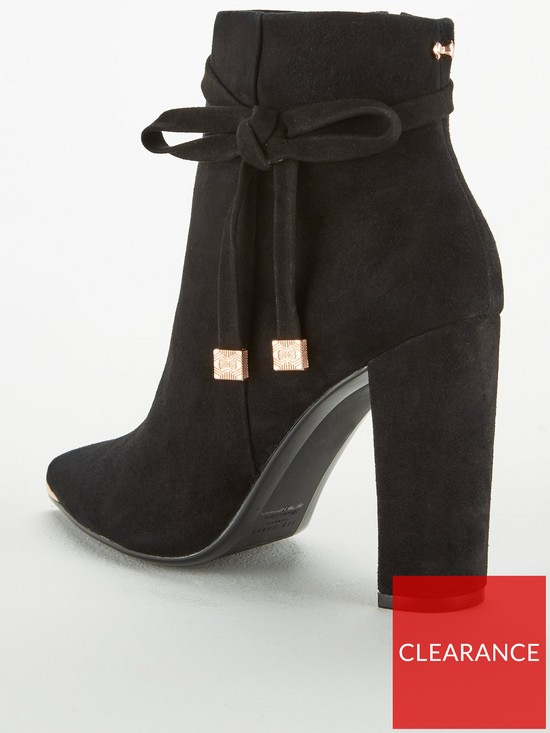 e7cb958d8 ... Ted Baker Qatena Suede Bow Ankle Boot - Black. View larger