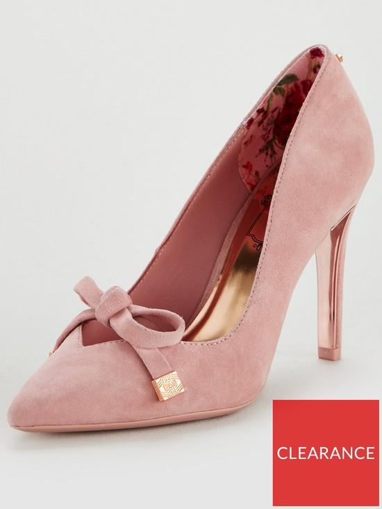b7def00a17a Ted Baker Gewell Bow Court Shoe - Mink Pink