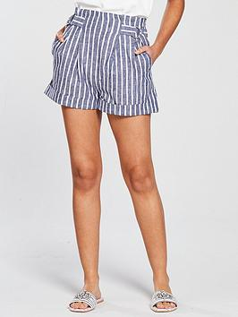 miss-selfridge-stripe-high-waisted-culotte-short