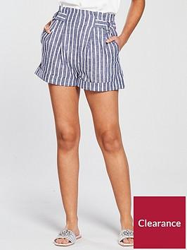 miss-selfridge-stripe-high-waisted-culotte-short