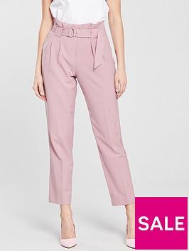 miss-selfridge-paperbag-trousersnbsp-dusky-pink