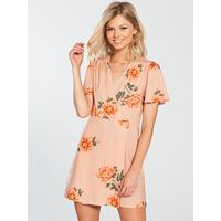 95729c4a38187e Shoptagr | Petite Wrap Tea Dress Floral by Miss Selfridge